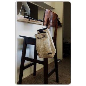 Rossetti Raffia Straw resort backpack Travel bag